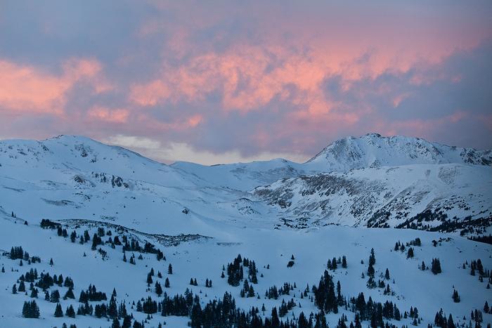 loveland, pass, colorado, sunset